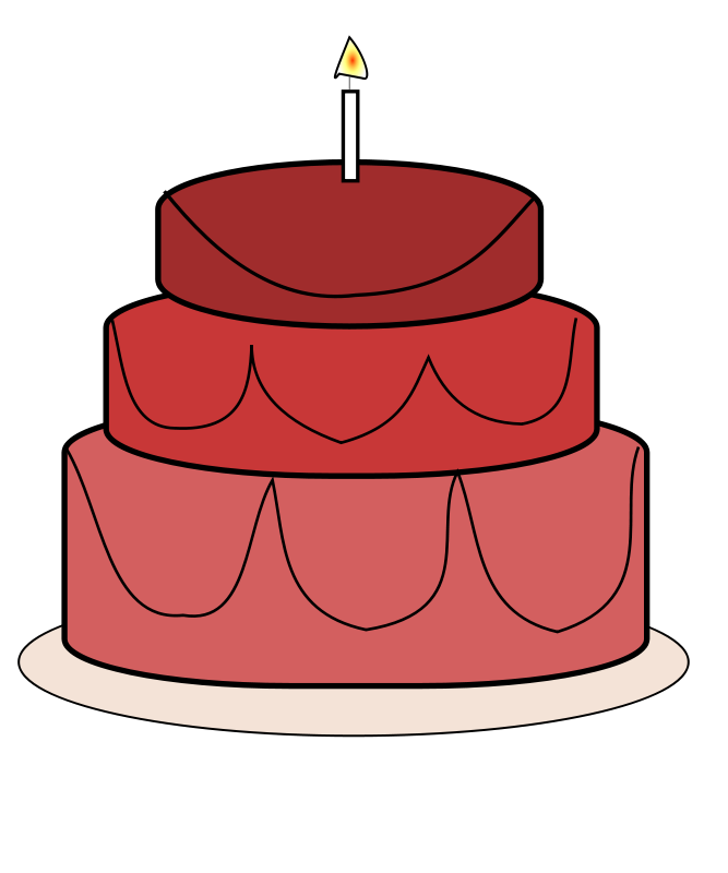 667x800 Birthday Cake Clipart Craft Projects, Foods Clipart