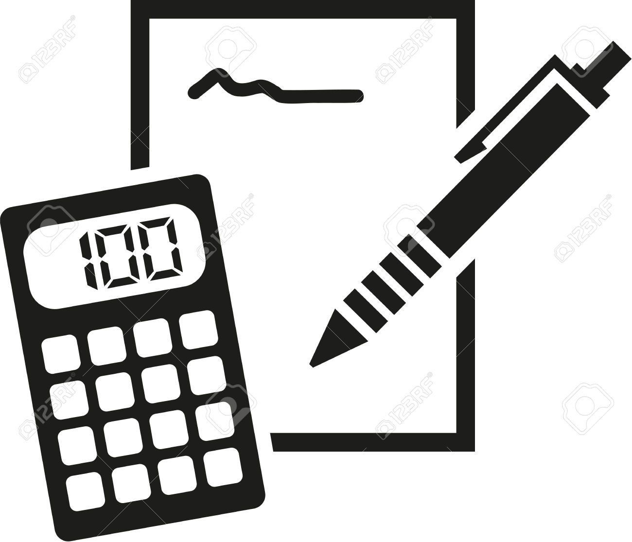 Calculator Clipart Black And White | Free download on ...