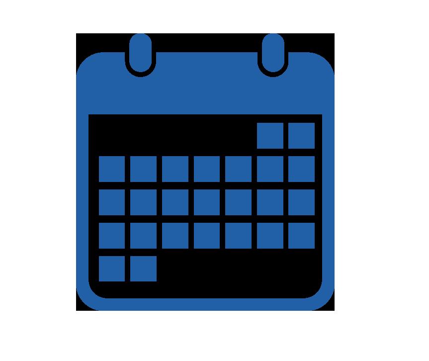 863x726 Calendar Clipart Blue