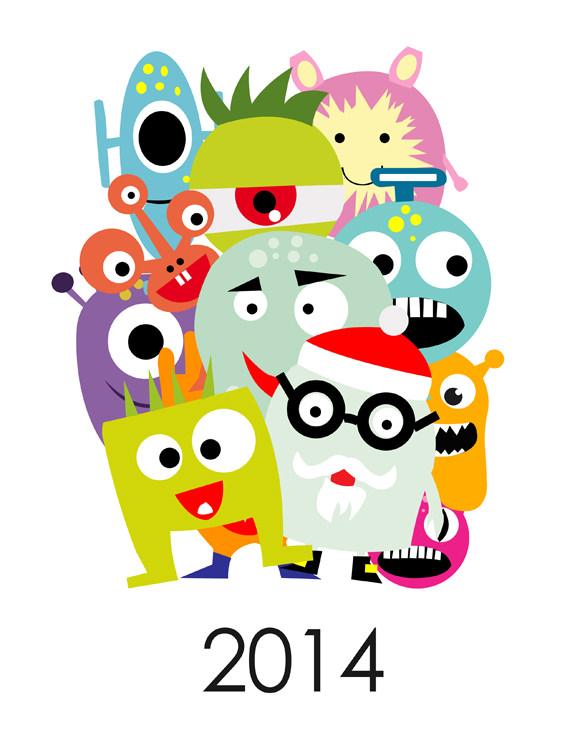580x751 Calendario 2014 Calendaris Monsters, Free