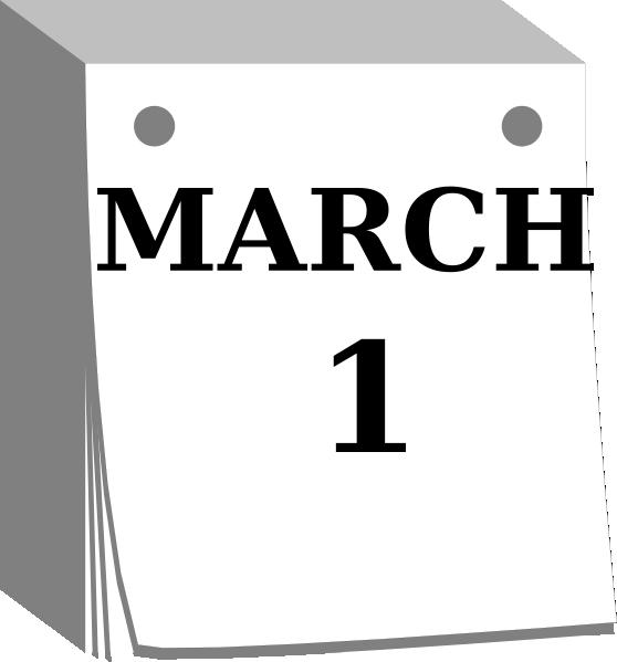 558x599 Mar1 Day Calendar Clip Art