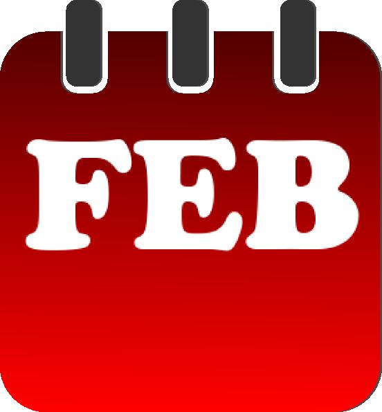 552x595 February Red Calendar Clip Art
