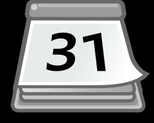 300x240 Office Calendar Clip Art
