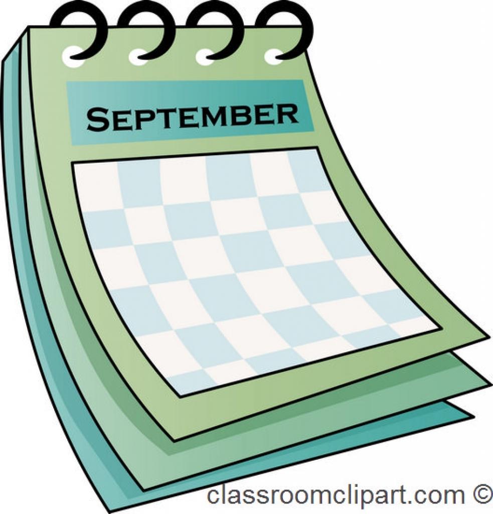 983x1024 September Free Calendar Clipart Clip Art Pictures Graphics