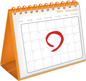 300x282 Calendar Date Clip Art