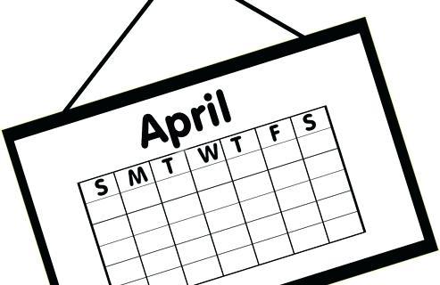 Calendar white. Clipart black and free