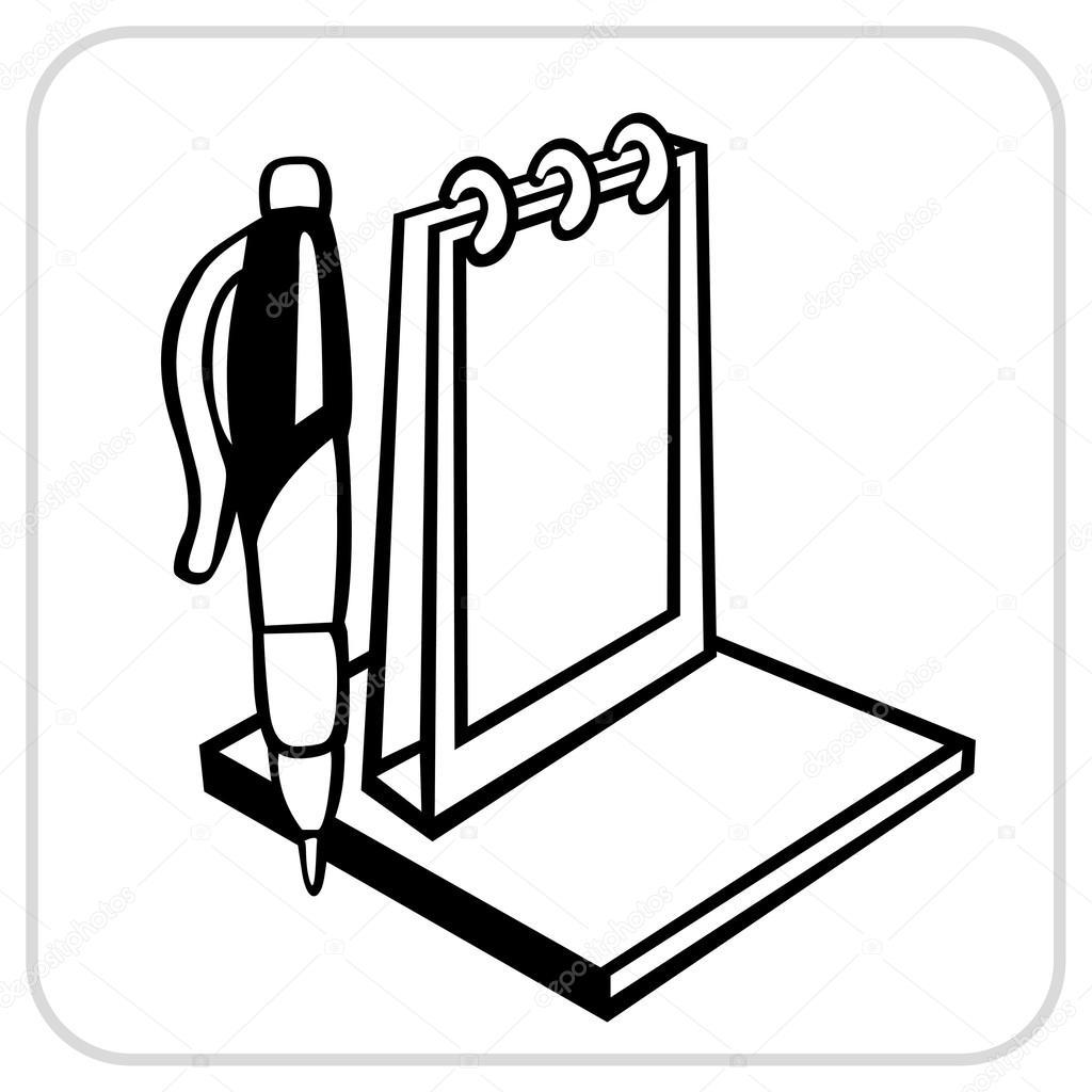 1024x1024 Calendar Pen And Paper Stock Vector Digital Clipart Clipartson