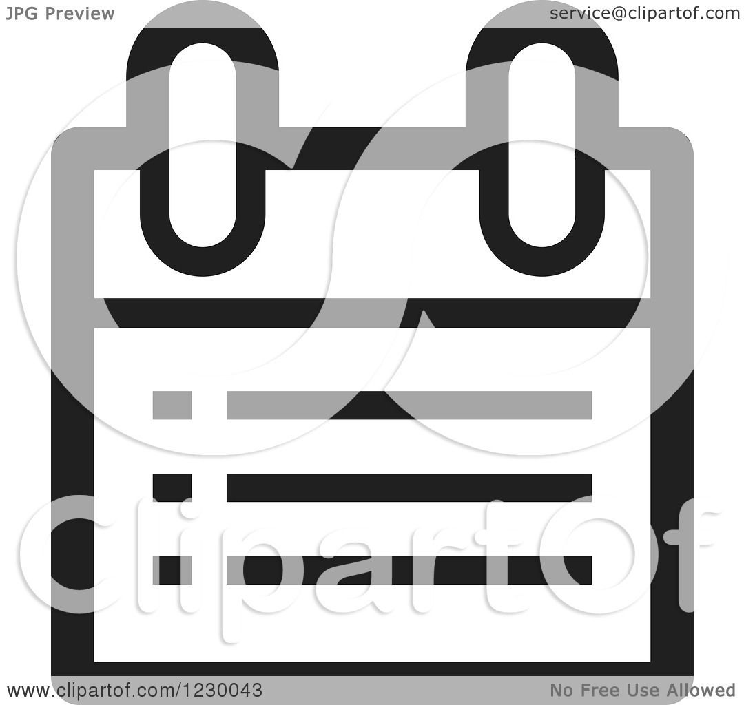 1080x1024 Clipart Of A Black And White Calendar Or Chart Icon
