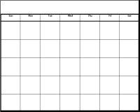 200x160 Date Clipart Blank Calendar