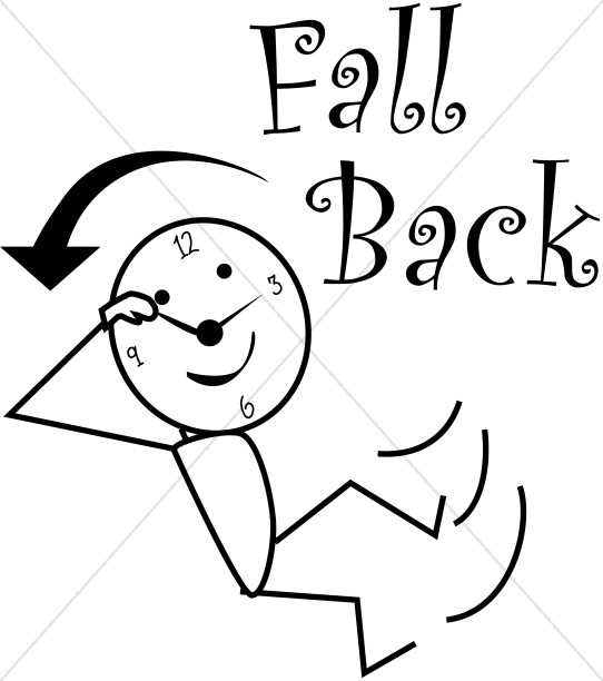 542x612 Fall Back Daylight Savings Stick Figure Christian Calendar Clipart