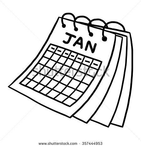 450x470 Sketch Clipart Calendar