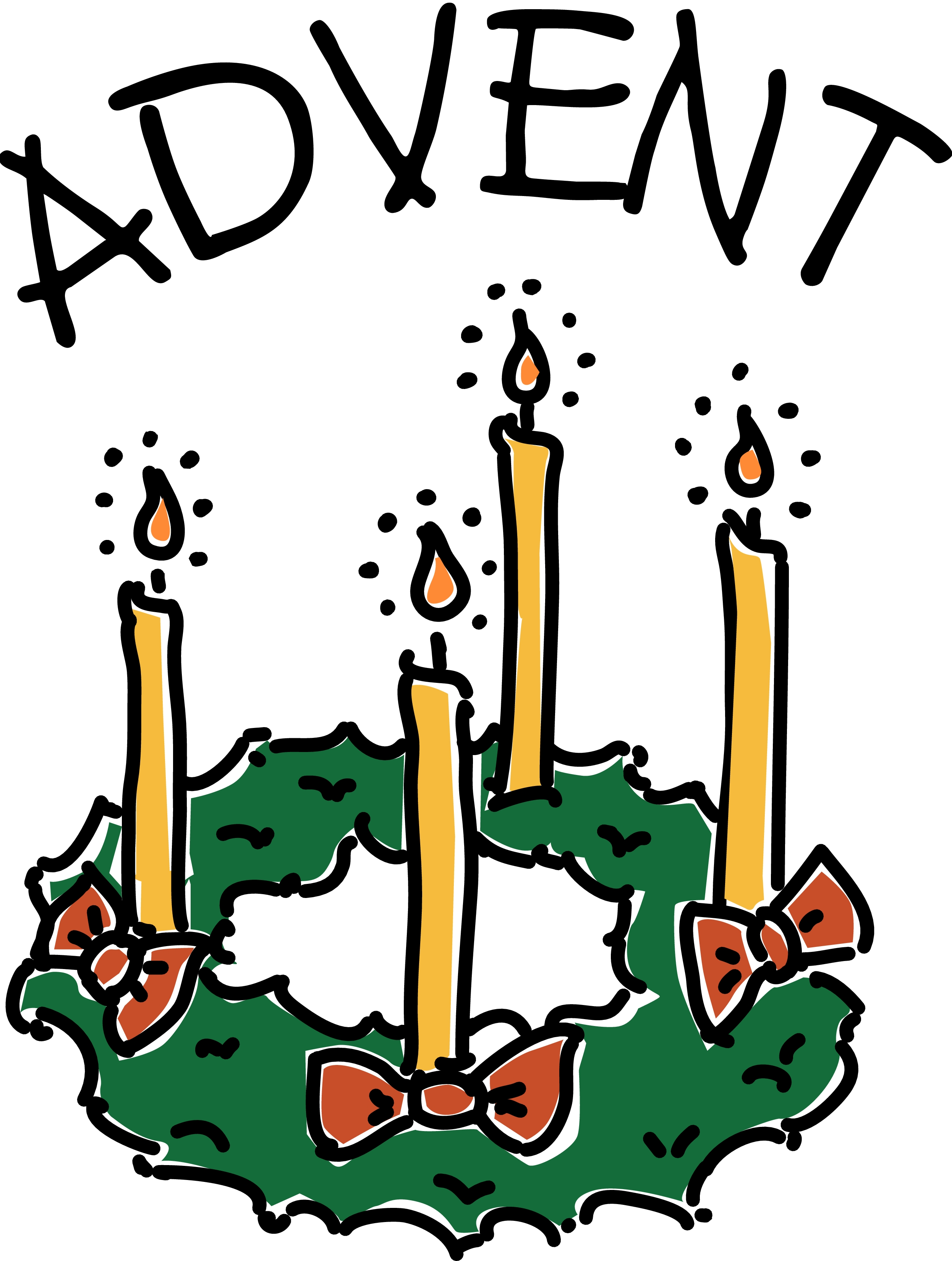 2492x3300 Black And White Advent Clipart