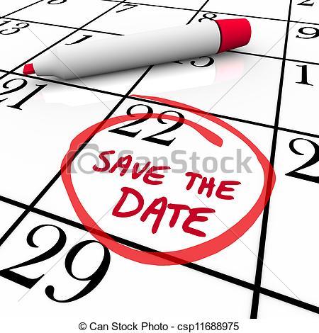 450x470 Save The Date Calendar Clipart