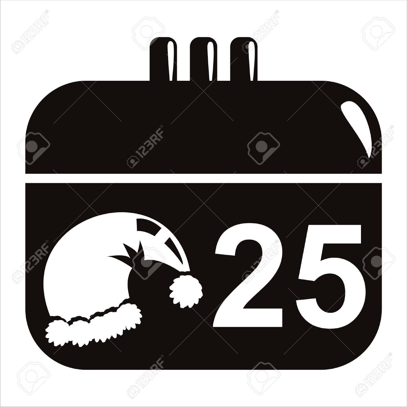 1300x1300 Black Christmas Calendar Icon Royalty Free Cliparts, Vectors,