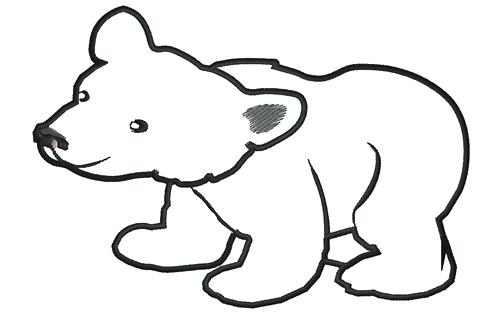 500x319 Outline Of A Bear Polar Bear Outline Library Teddy Bear Outline