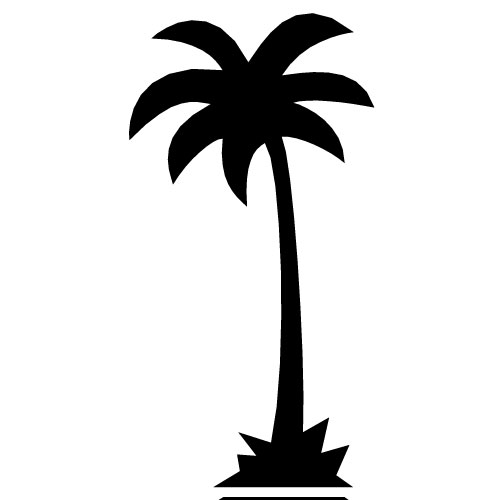 500x500 California Clipart California Palm Tree Clip Art