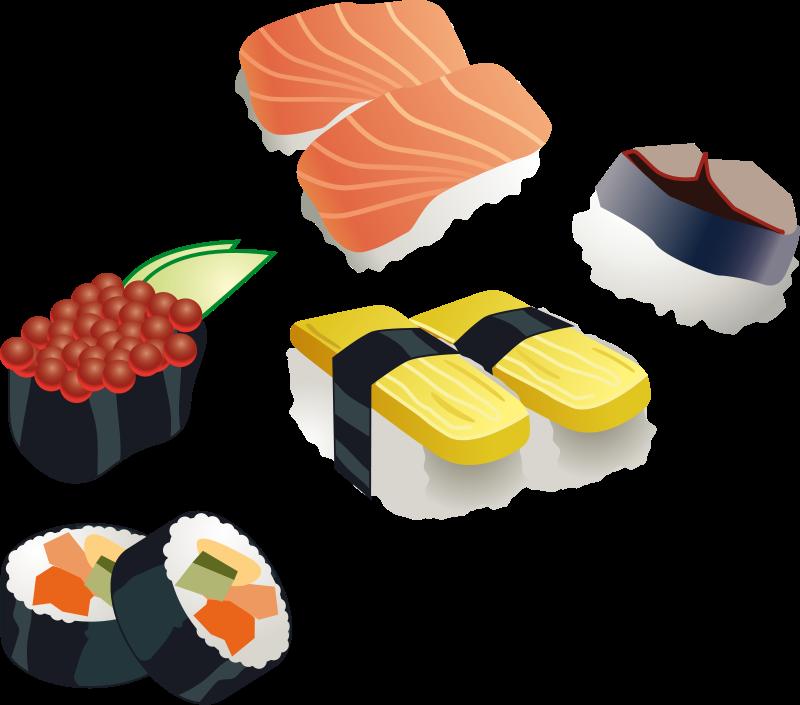 800x705 Japanese Clipart Sushi