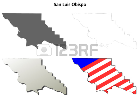 450x321 San Diego County, California Blank Outline Map Set Royalty Free