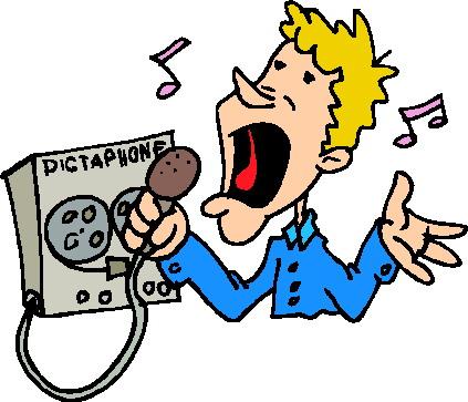 423x363 Microphone Clip Art
