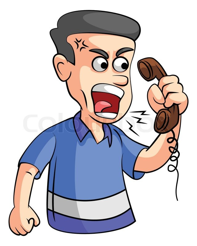 640x800 Telephone Clipart Angry