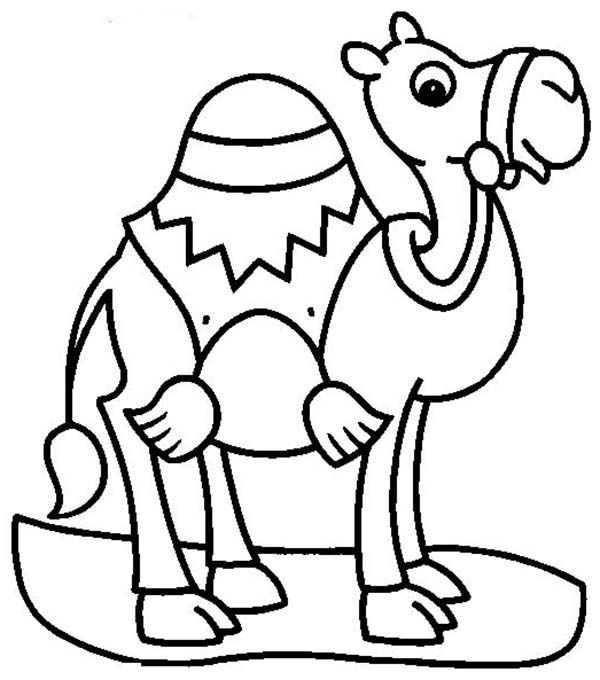 camel coloring pages for kids - photo#15