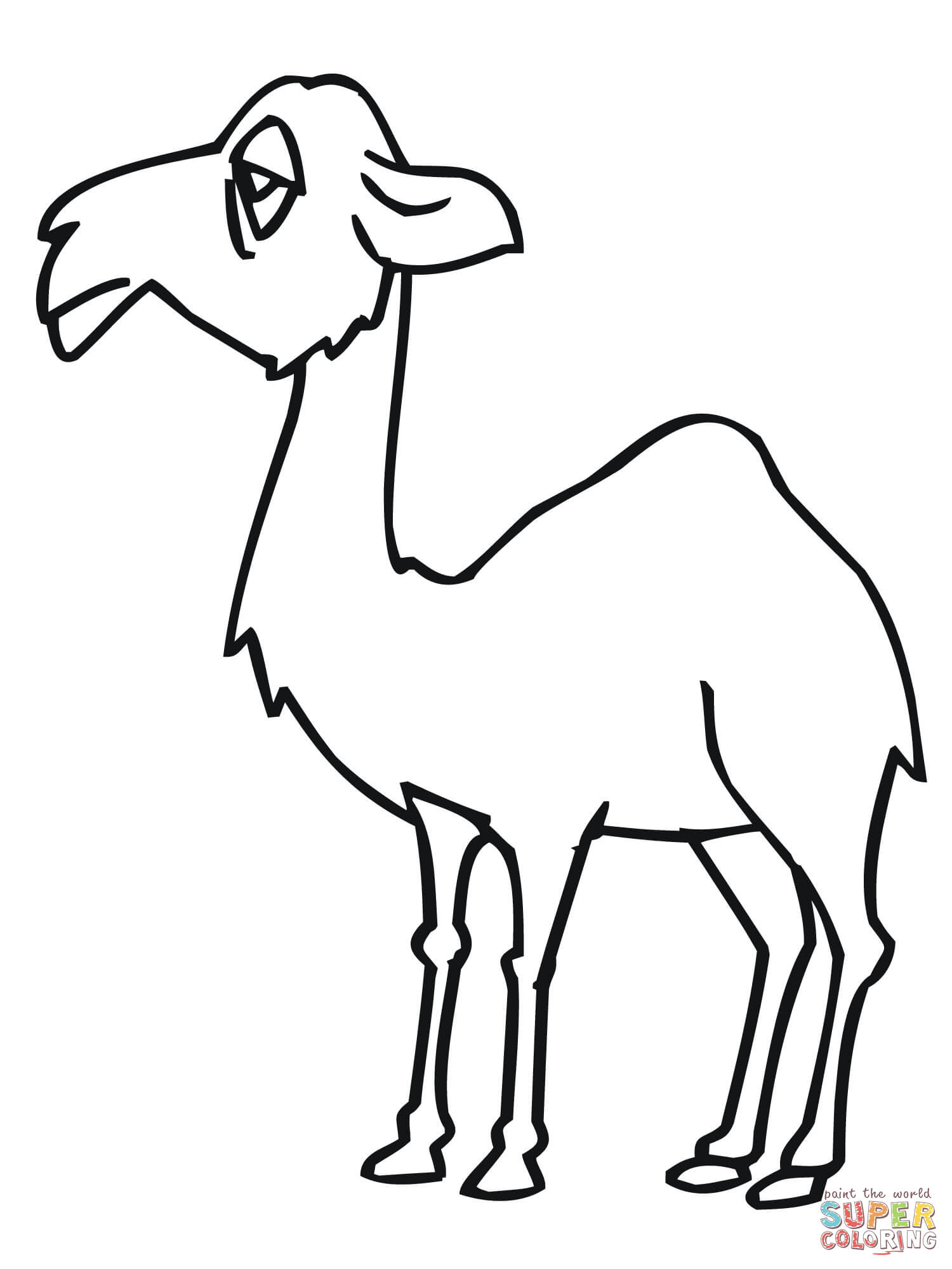 camel coloring pages for kids - photo#14