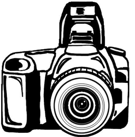 440x445 Camera Clipart Black And White Free Clipart Cricut Cut Files