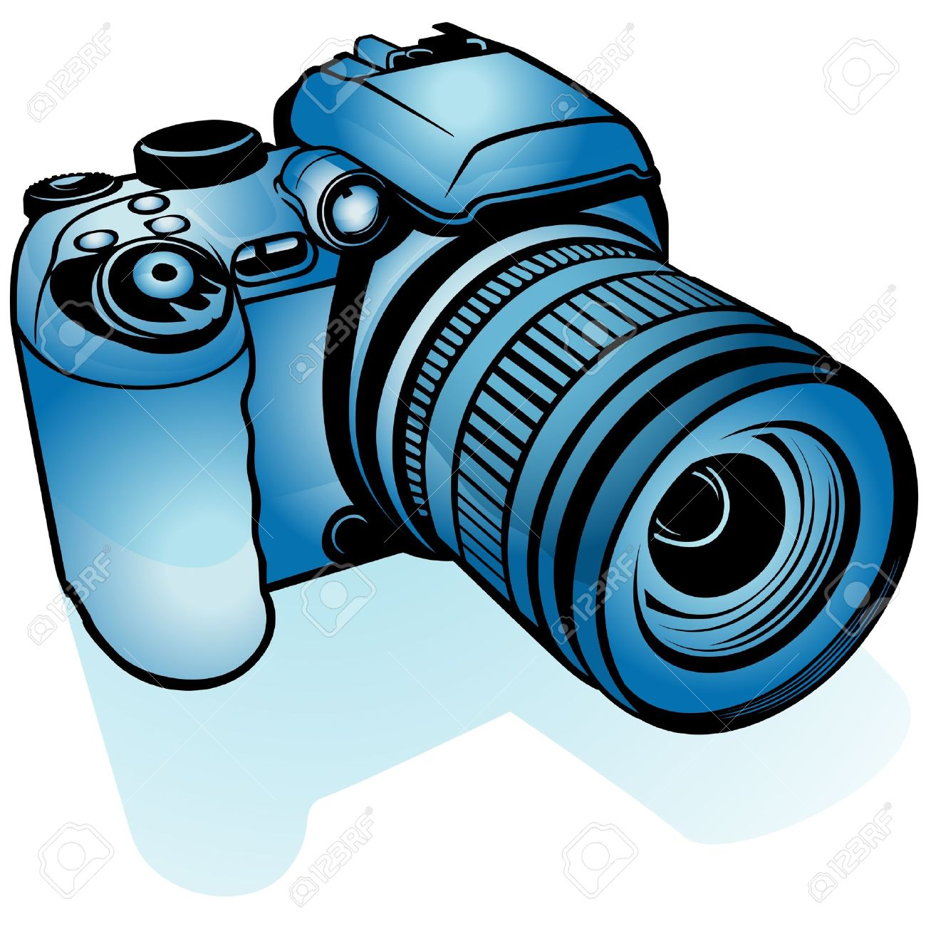 1300x1300 Camera Clipart Colorful