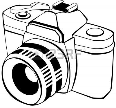 400x372 Camera Clipart Black And White