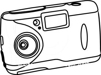 350x259 Camera Clipart Black And White