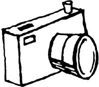 200x176 Camera Cliparts Black And White