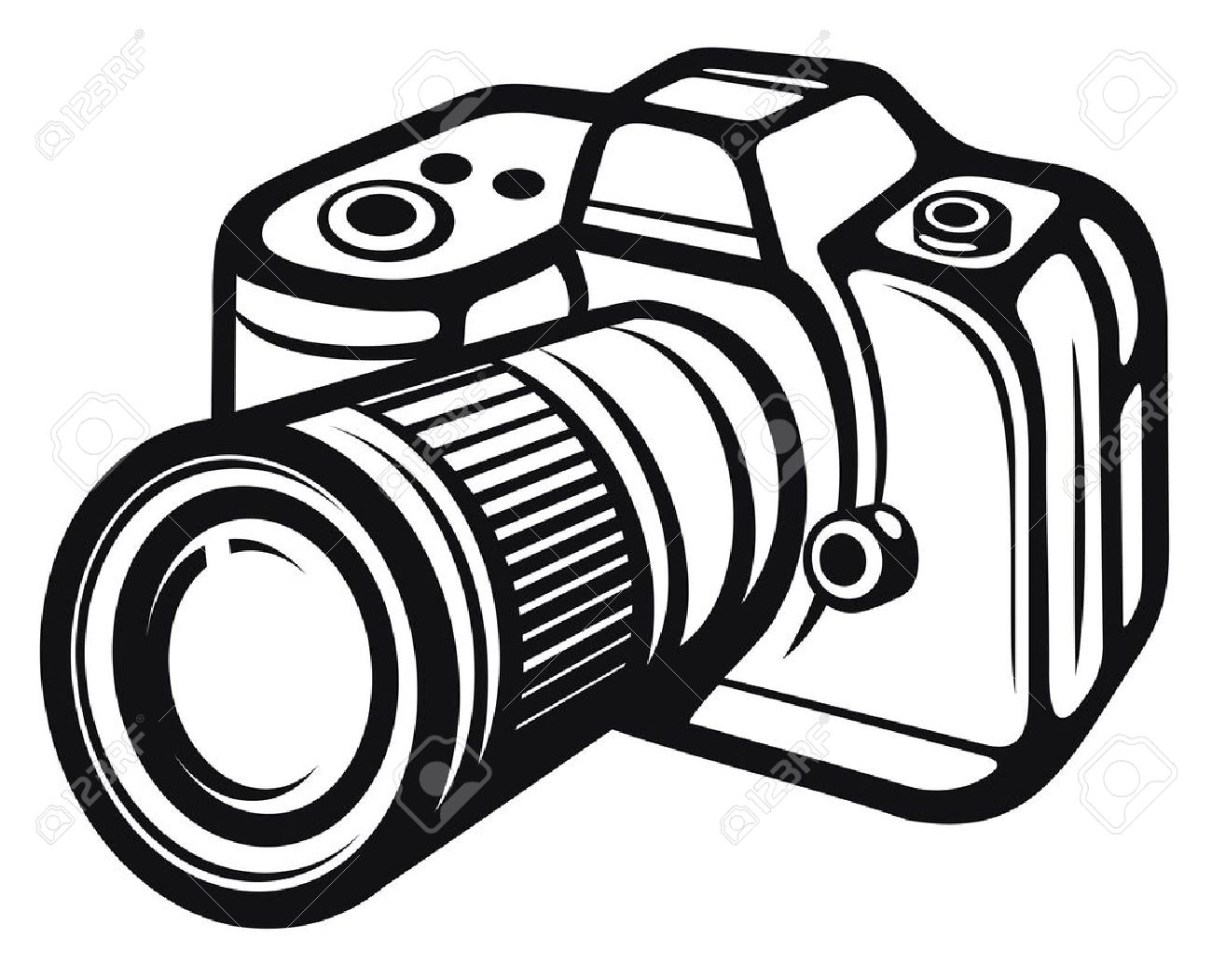 Camera Clipart Black And White Free Download Best Camera