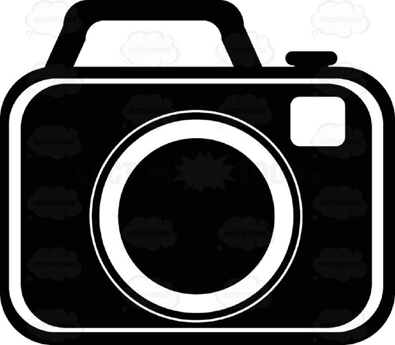 800x700 Camera Black And White Computer Icon Cartoon Clipart