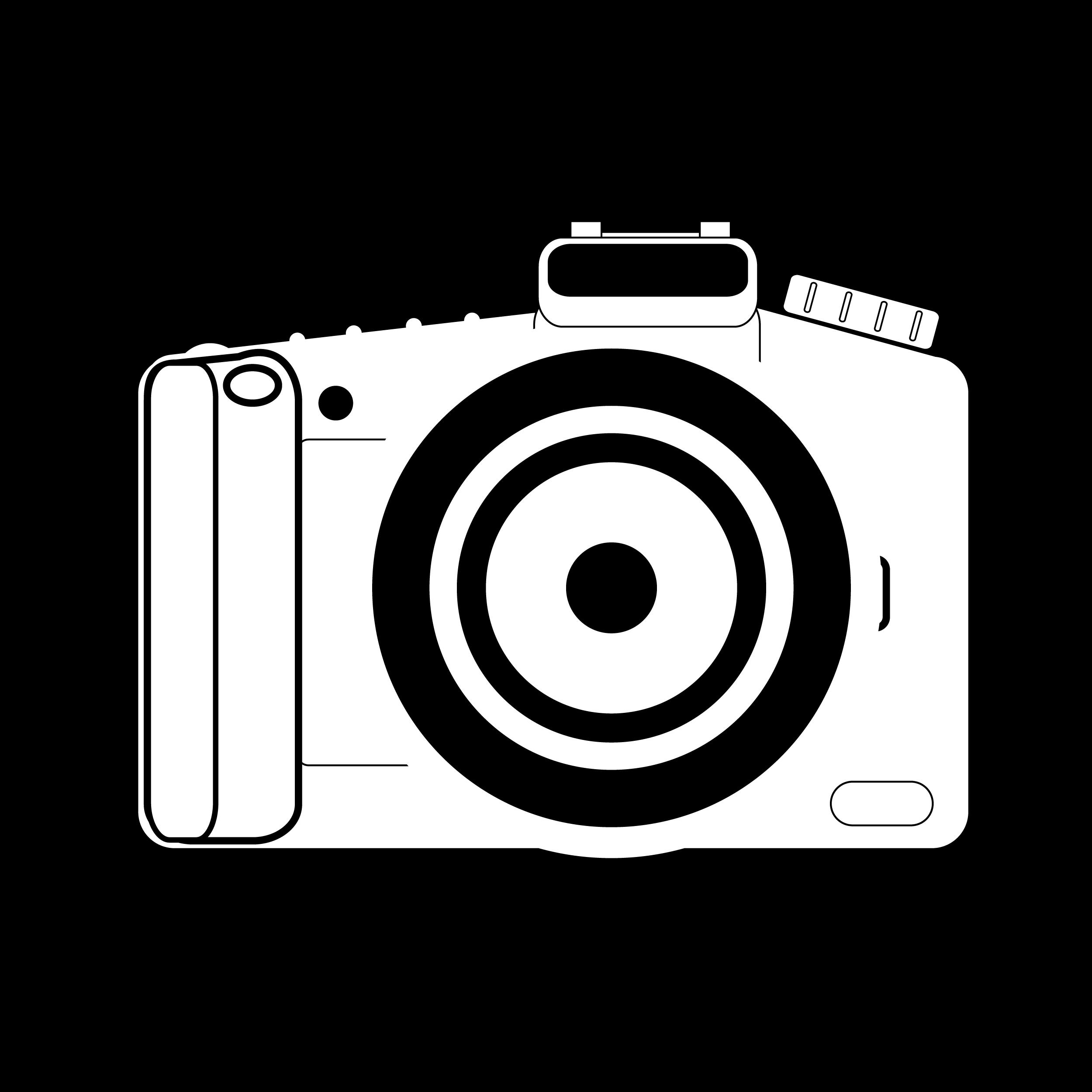 2500x2500 Camera Clipart Vector Art