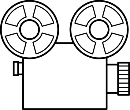 425x359 Old Tape Camera Clip Art Vector, Free Vectors