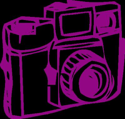 400x380 Camera Clipart Purple