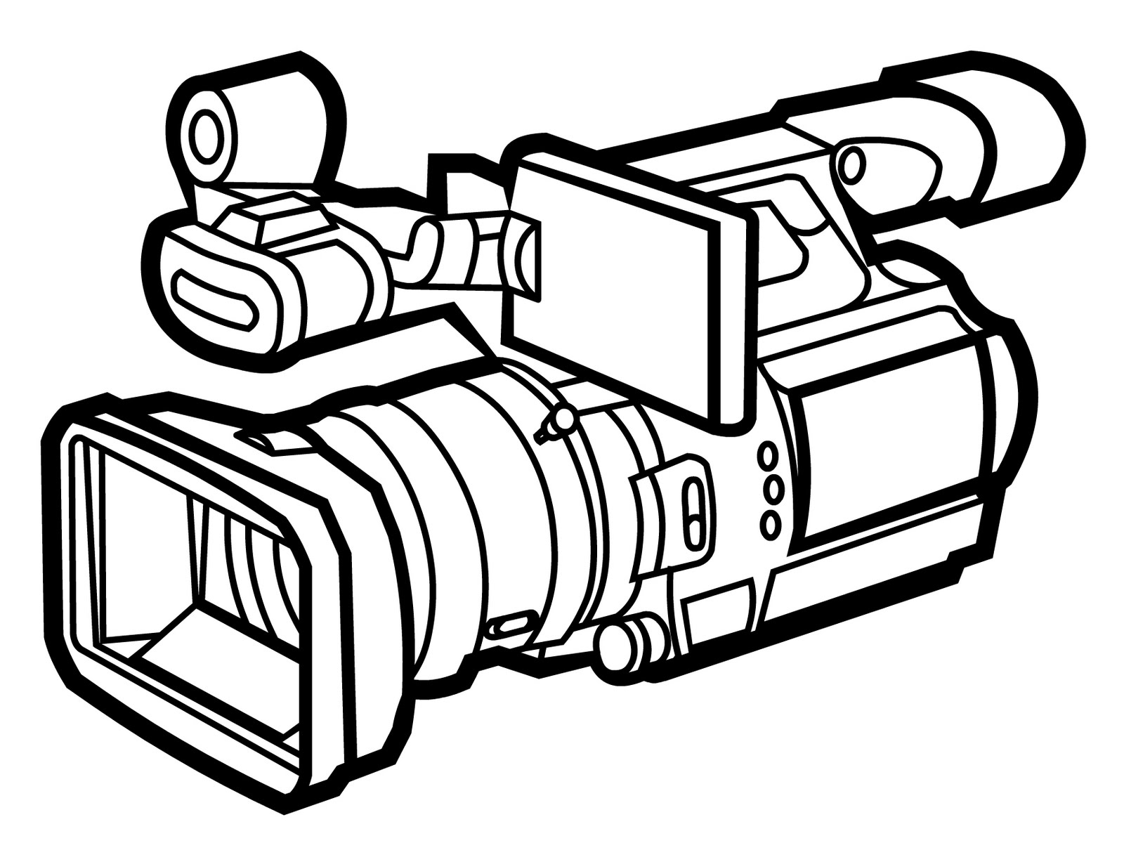 1600x1200 Drawing Clipart Camera