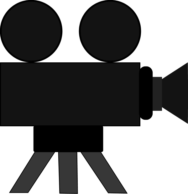 600x619 Film Camera Clipart