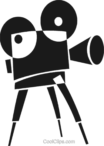 343x480 Movie Camera Royalty Free Vector Clip Art Illustration Vc028230
