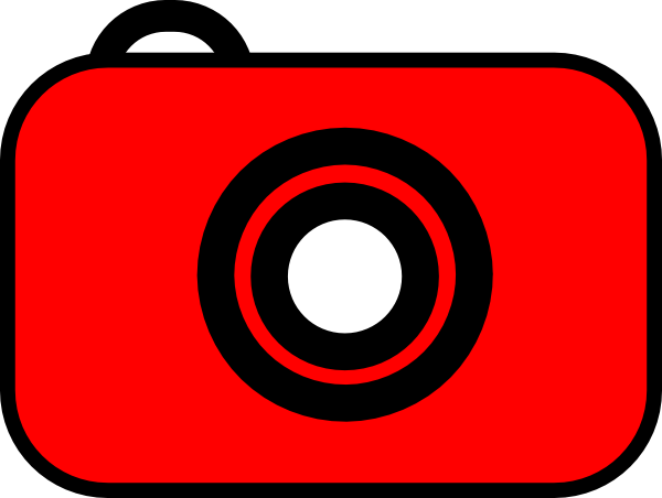 600x452 Camera Red White Clip Art