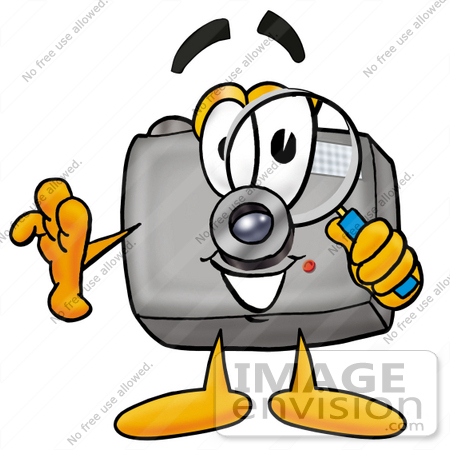 450x450 Clip Art Graphic Of A Flash Camera Cartoon Character Looking