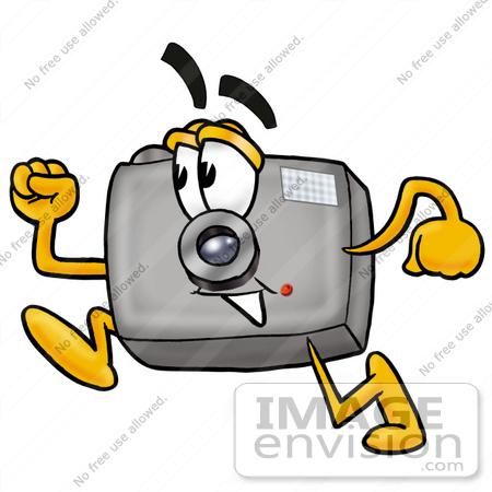 450x450 Clip Art Graphic Of A Flash Camera Cartoon Character Running