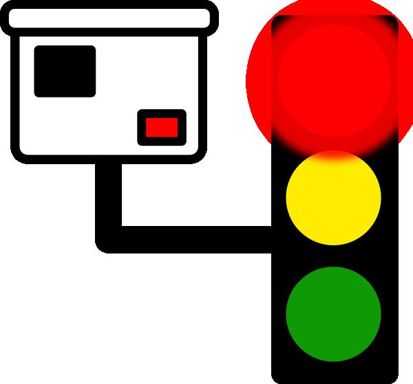 600x559 Red Light Camera Clip Art