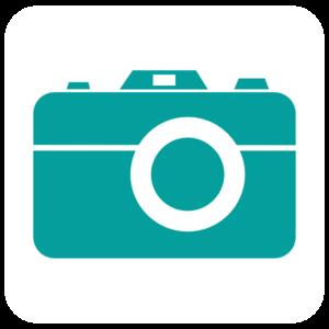300x300 Teal Camera Clip Art