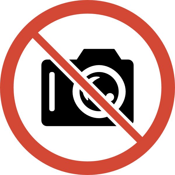 600x600 No Photography Allowed Clipart