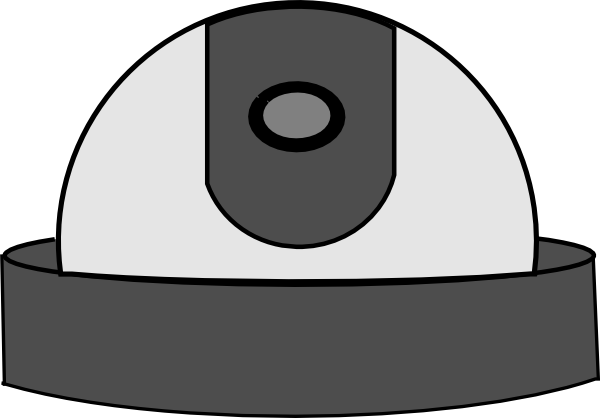 600x418 Security Camera Dome Clip Art