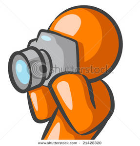 287x300 Art Image An Orange Man Holding A Camera Taking A Picture