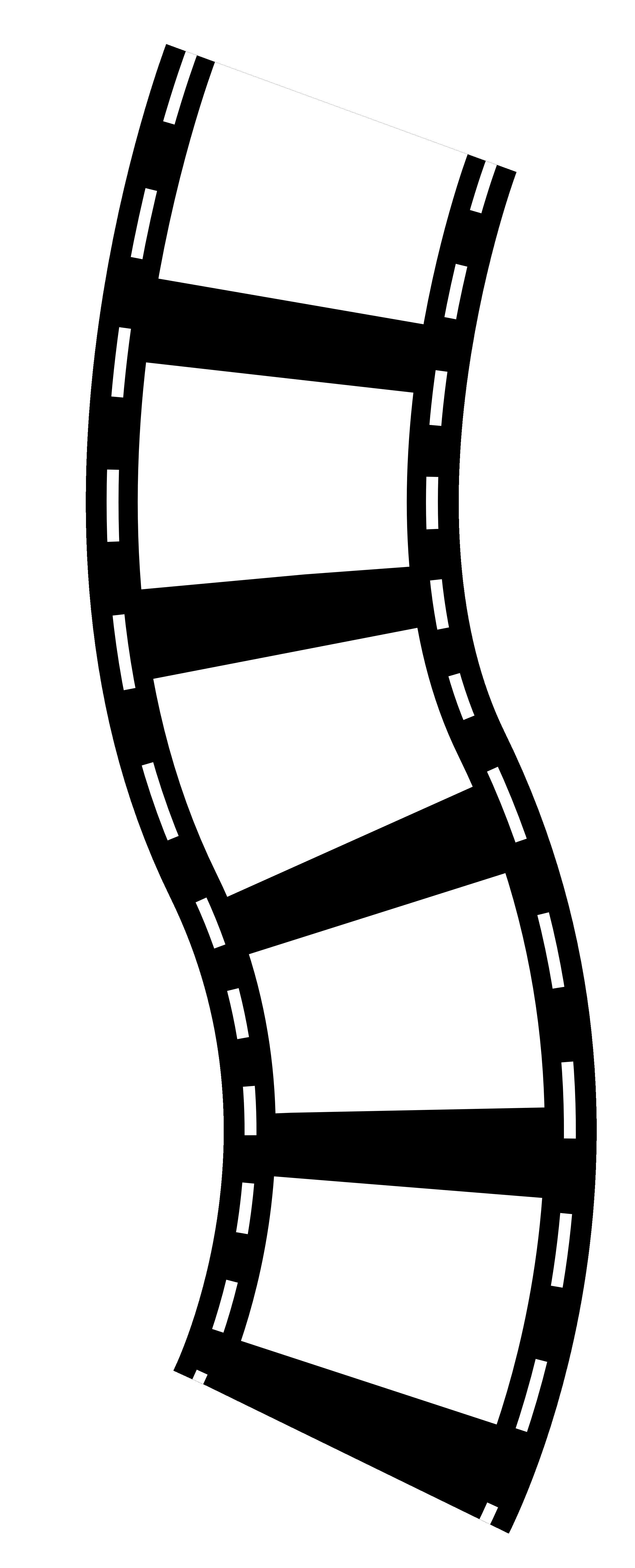 2555x6305 Movie Camera Film Roll Clip Art Clipart