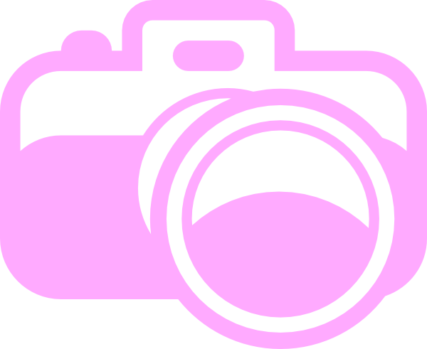600x491 Pink Camera For Photography Logo Clip Art