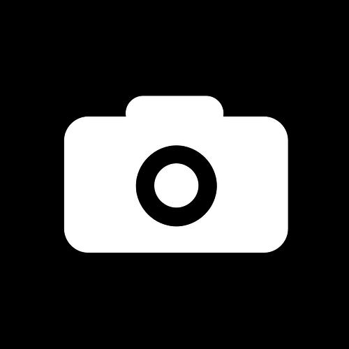 500x500 Square Black And White Camera Icon Vector Clip Art Public Domain